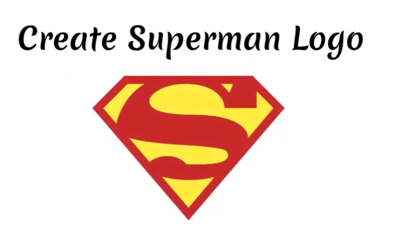 Create Superman Logo in 30 seconds